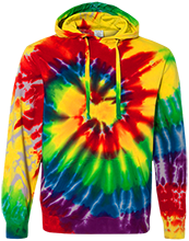 Brethren Christian School Bruins Unisex Tie-Dyed Pullover Hoodie with Front Pocket