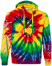 Accomodation Middle School School Unisex Tie-Dyed Pullover Hoodie with Front Pocket