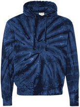 Cheerleading Unisex Tie-Dyed Pullover Hoodie with Front Pocket