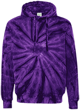 Hawthorne Elementary School Panthers Unisex Tie-Dyed Pullover Hoodie with Front Pocket