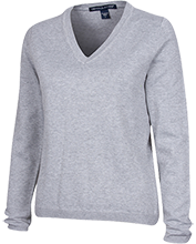 Collingwood Park SDA School School Ladies Customized V-Neck Sweater