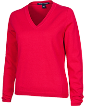 A Lauren Welborn Middle Wildcats Ladies Customized V-Neck Sweater