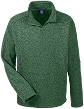 Greenfield High School Green Wave Men's 1/2 Zip Sweater Fleece