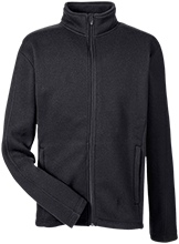 School Men's Full Zip Sweater Fleece