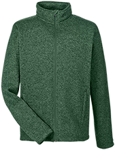 Greenfield High School Green Wave Men's Full Zip Sweater Fleece