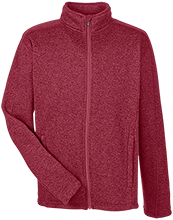 Audubon Middle Cardinals Men's Full Zip Sweater Fleece
