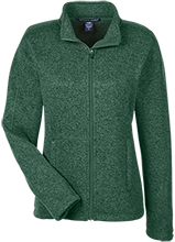 Harlan Elementary School Hawks Ladies Full Zip Sweater Fleece
