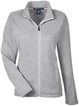 Friends School Quakers Ladies Full Zip Sweater Fleece