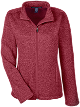 Collegiate School Cardinals Ladies Full Zip Sweater Fleece