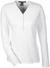 Flower Hill Elementary School Falcons Ladies Henley Knit Top