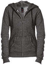 North Quincy High School Red Raiders Juniors Custom Embroidered Fitted Full-Zip Hoodie