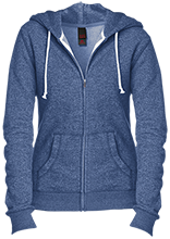 Wellington Junior High School Blue Kights Juniors Custom Embroidered Fitted Full-Zip Hoodie