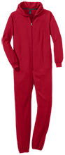 McKinley Elementary School Mounties Adult Fleece Onesie