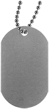 Team Granite Arch Rock Climbing Silver Dog Tag