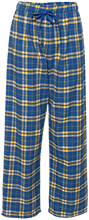 Oxford Middle School Chargers Unisex Custom Embroidered Flannel Pants