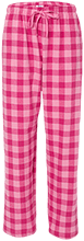 Accomodation Middle School School Unisex Custom Embroidered Flannel Pants