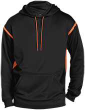 Fowler School Tigers Tall Sport-Wicking 2-tone Pullover Hoodie