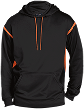 School Customized Mens Sport-Wicking 2-tone Pullover Hoodie