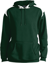 Greenfield High School Green Wave Unisex Printed Shoulder Colorblock Pullover