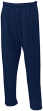 Del Val Wrestling Wrestling Open Bottom Sweatpants with Pockets