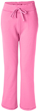 Ella C Pittman Elementary School Pandas Ladies Open Bottom Sweatpants with Pockets