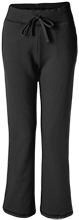 Black River Elementary School Pirates Ladies Open Bottom Sweatpants with Pockets