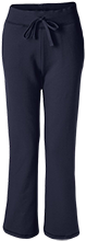 Bowdle High School Bobcats Ladies Open Bottom Sweatpants with Pockets