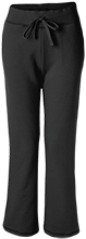 O E Gray Early Learning Center Timber Wolves Ladies Open Bottom Sweatpants with Pockets