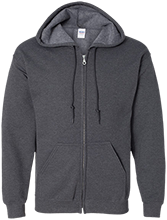 Softball Embroidered Zip Up Hoodie