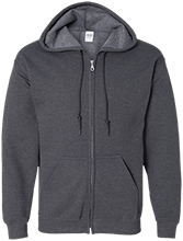 Graphic Design Embroidered Zip Up Hoodie