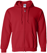 Sunrise School Eagles Embroidered Zip Up Hoodie