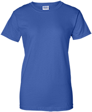 Holm Elementary School Blue Dolphins Ladies Custom 100% Cotton T-Shirt