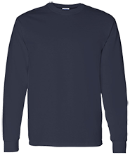 Lansing Eastern High School Quakers Adult 5.3 oz 100% Cotton Long-Sleeve T-Shirt