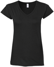Basketball Ladies Fitted Softstyle 4.5 oz V-Neck T-Shirt