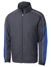 Wayne Elementary School Blue Devils Embroidered Colorblock Windbreaker