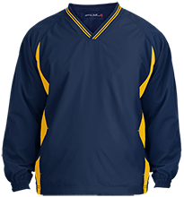 Owosso Junior High School Trojans Youth Tipped V-Neck Wind Shirt