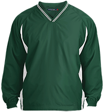 Janesville Parker High  School Vikings Tipped VNeck Wind Shirt