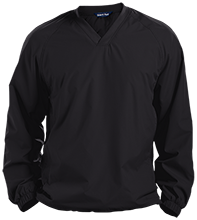 Batting Cage Pullover V-Neck Windshirt