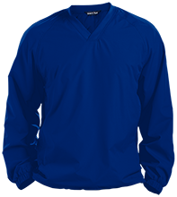 Edwards Middle School Blue Devils Pullover V-Neck Windshirt