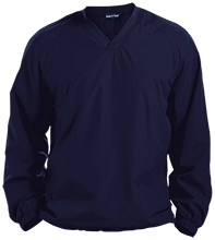 Lansing Eastern High School Quakers Pullover V-Neck Windshirt