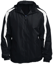 Batting Cage Fleece Lined Colorblocked Hooded Jacket