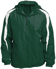 Janesville Parker High  School Vikings Fleece Lined Colorblocked Hooded Jacket