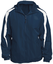 Clark Elementary School Coyotes Fleece Lined Colorblocked Hooded Jacket