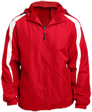 Bermudian Springs Middle Eagles Fleece Lined Colorblocked Hooded Jacket