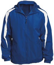 West Springfield Middle School Junior Terriers Fleece Lined Colorblocked Hooded Jacket