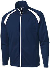 Cresent Heights Elementary School Huskies Men's Raglan Sleeve Warmup Jacket