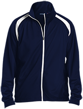 Hammock Point Elementary School Hawks Men's Raglan Sleeve Warmup Jacket