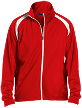 Stony Lane Elementary School Flags Men's Raglan Sleeve Warmup Jacket