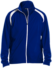 Edwards Middle School Blue Devils Men's Raglan Sleeve Warmup Jacket