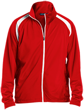 Charles E Jordan Senior H S Falcons Men's Raglan Sleeve Warmup Jacket